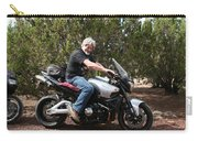 The Old Man On The Motorcycle Carry-all Pouch