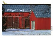 The Old Red Barn In Winter Carry-all Pouch
