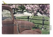 The Old Truck And The Crab Apple Carry-all Pouch by Edward Fielding