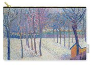 The Orchard Under The Snow  Carry-all Pouch by Hippolyte Petitjean