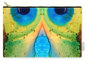 The Owl - Abstract Bird Art By Sharon Cummings Carry-all Pouch