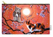 The Owl And The Pussycat In Peach Blossoms Carry-all Pouch