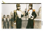 The Parisian Municipale Guard, Formed 29th July 1830 Coloured Engraving Carry-all Pouch