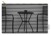 The Patio In Black And White Carry-all Pouch by Rob Hans