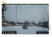 The Patio In Winter Carry-all Pouch