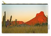 The Peak And Cardon Cacti In The Sunset In San Carlos-sonora Carry-all Pouch