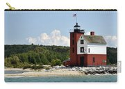 Round Island Lighthouse Mackinac The Picnic Spot Carry-all Pouch