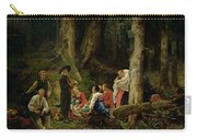 The Pilgrims From The Abbey Of St. Odile Oil On Canvas Carry-all Pouch