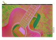 My Pink Guitar Pop Art Carry-all Pouch