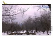 The Pink Winter Light On The Mountain Top Carry-all Pouch