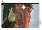 The Pinto Horse Portrait Carry-all Pouch