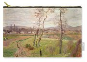 The Plain At Gennevilliers Carry-all Pouch by Claude Monet