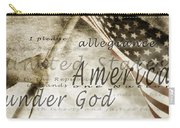 The Pledge Of Allegiance And An Carry-all Pouch