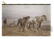 The Ploughman Wilmington Polegate Near Eastbourne Carry-all Pouch by Joseph Harold Swanwick