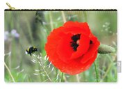 The Poppy And The Bee Carry-all Pouch