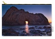The Portal - Sunset On Arch Rock In Pfeiffer Beach Big Sur In California. Carry-all Pouch by Jamie Pham