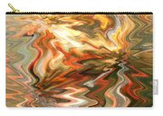 Gray And Orange Peaceful Abstract Art Carry-all Pouch