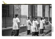 The Procession - Black And White Carry-all Pouch