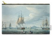 The Prometheus And The Melpomene In The Gulf Of Riga Carry-all Pouch by Thomas Whitcombe