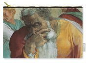 The Prophet Jeremiah Carry-all Pouch by Michelangelo