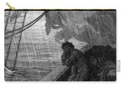 The Rain Begins To Fall Carry-all Pouch by Gustave Dore