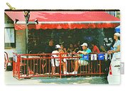 The Red Awning Cafe On St. Denis - A Shady Spot To Enjoy A Cold Beer On A Very Hot Sunday In July Carry-all Pouch