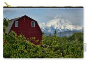 The Red Barn And Mt. Hood Carry-all Pouch