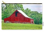 The Red Barn - Featured In Old Buildings And Ruins Group Carry-all Pouch