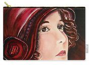 Red Cloche Carry-all Pouch