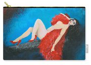 The Red Feather Boa Carry-all Pouch