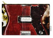The Red Guitar Blues Carry-all Pouch by Bill Cannon