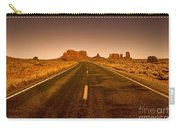 The Road To Monument Valley -utah  Carry-all Pouch