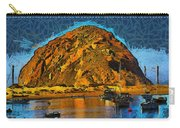 The Rock At Morro Bay Abstract Carry-all Pouch
