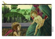 The Rockefeller Madonna. Madonna And Child With Young Saint John The Baptist Carry-all Pouch