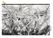 The Roots In Black And White Carry-all Pouch by Lisa Russo