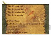 The Saint Francis Prayer Carry-all Pouch
