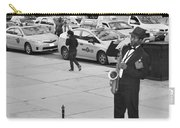 The Saxman In Black And White Carry-all Pouch