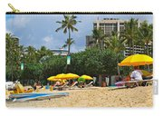 The Scene At Waikiki Beach Carry-all Pouch