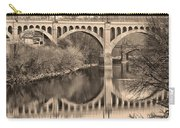 The Schuylkill River And Manayunk Bridge In Sepia Carry-all Pouch