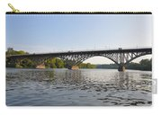The Schuylkill River And Strawbery Mansion Bridge Carry-all Pouch by Bill Cannon