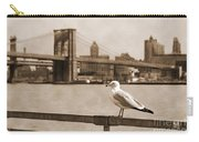 The Seagull Of The Brooklyn Bridge Vintage Look Carry-all Pouch