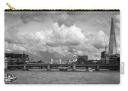 The Shard And Thames View Black And White Version Carry-all Pouch