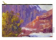 The Side Of The Road At Zion Carry-all Pouch