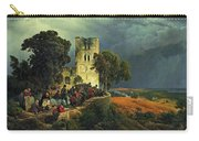 The Siege. Defense Of A Church Courtyard During The Thirty Years' War Carry-all Pouch