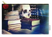 The Skull The Spell Book And The Rose Carry-all Pouch