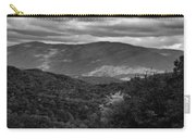 The Smokies In Black And White Carry-all Pouch