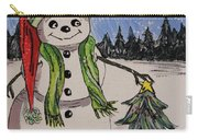 The Snowman's Tree Carry-all Pouch