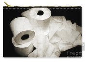 The Spare Rolls 2 - Toilet Paper - Bathroom Design - Restroom - Powder Room Carry-all Pouch by Andee Design