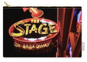 The Stage On Broadway In Nashville Carry-all Pouch by Dan Sproul