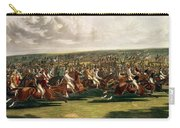 The Start Of The Memorable Derby Of 1844 Carry-all Pouch by Charles Hunt